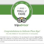 Saltcote Place TripAdvisor Hall of Fame 2015