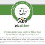 Saltcote Place TripAdvisor Hall of Fame 2015