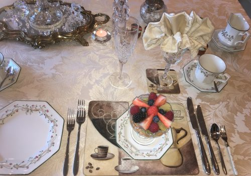 Breakfast Place setting for one